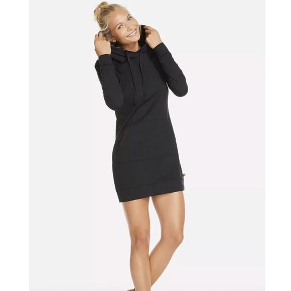 81ae8ab76c Fabletics Large Yukon Sweater Dress Black Hoodie